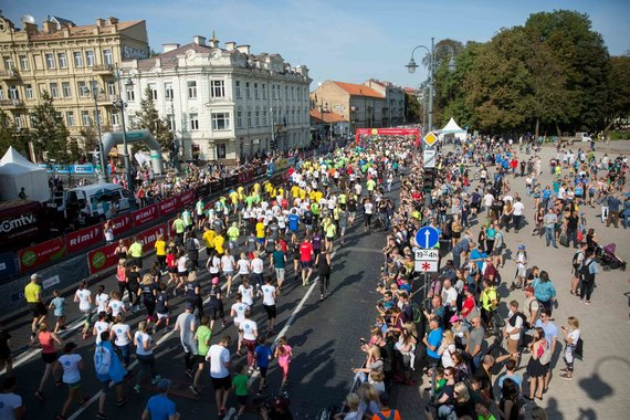 Žygimanto Gedvilos / 15min nuotr./Vilniaus maratono Šeimų bėgimas