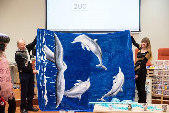 Žygimanto Gedvilos / 15min nuotr./Gausiausio rinkinio delfinų tematika rekordo siekimas