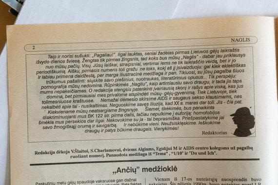 """Žygimanto Gedvilos / 15min nuotr./Pirmojo """"Naglio"""" numerio įžanginis žodis"""