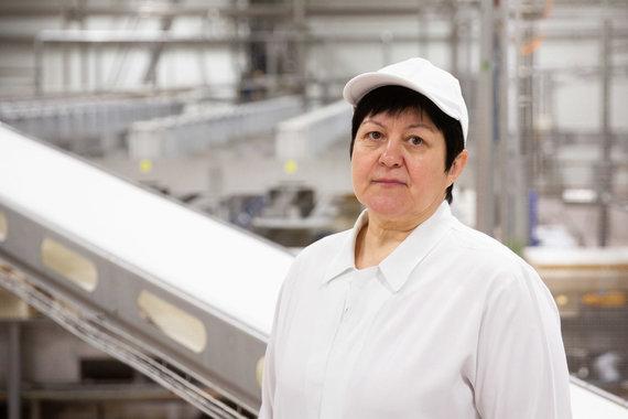 """Žygimanto Gedvilos / 15min nuotr./""""Rivona"""" pieninės produktų gamybos vadovė Laima Balionienė"""