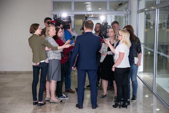 Žygimanto Gedvilos / 15min nuotr./Žurnalistai Seime