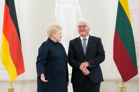 Žygimanto Gedvilos / 15min nuotr./Dalia Grybauskaitė ir Frankas Walteris Steinmeieris