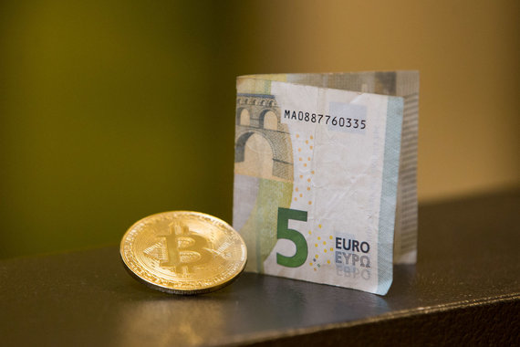 Žygimanto Gedvilos / 15min nuotr./Bitkoinas ir eurai