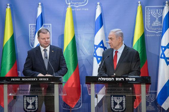 LRVK / Dariaus Janučio nuotr./Saulius Skvernelis susitiko su Izraelio premjeru Benjaminu Netanyahu