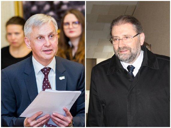 15min koliažas/Povilas Urbšys ir Rytis Mykolas Račkauskas