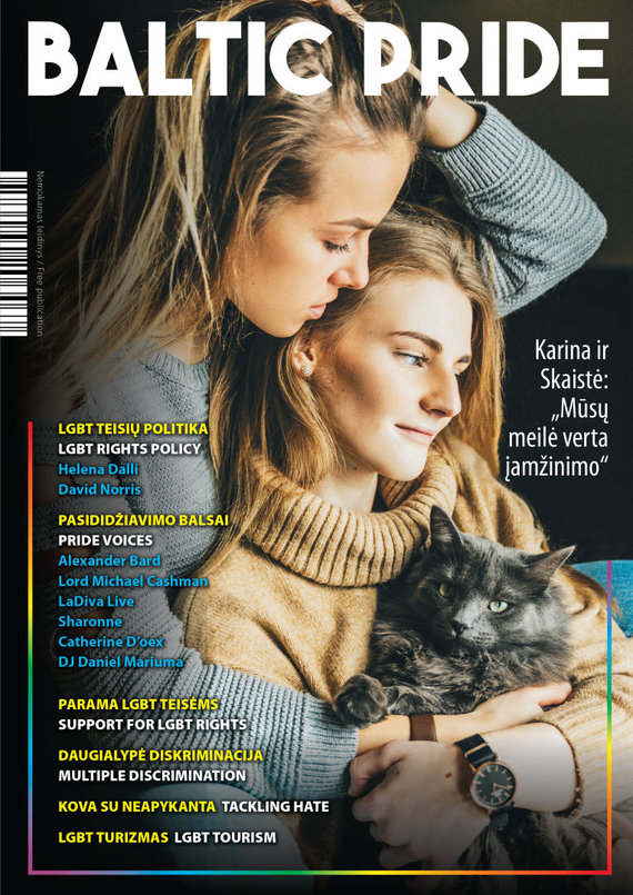 """LGL nuotr./Artėjančio """"Baltic Pride"""" 2019 festivalio proga išleistas išskirtinis nemokamas žurnalas"""