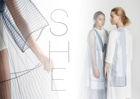 """Organizatorių nuotr./Samanta Zykaitė Japonų estetiniai kodai aprangos kolekcijoje """"She"""""""