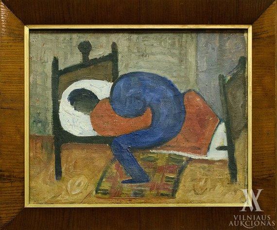 """Vilniaus aukciono namų nuotr./Antanas Samuolis """"Liga"""" (1931)"""
