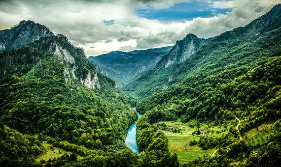 Shutterstock nuotr./Taros upė, Juodkalnija