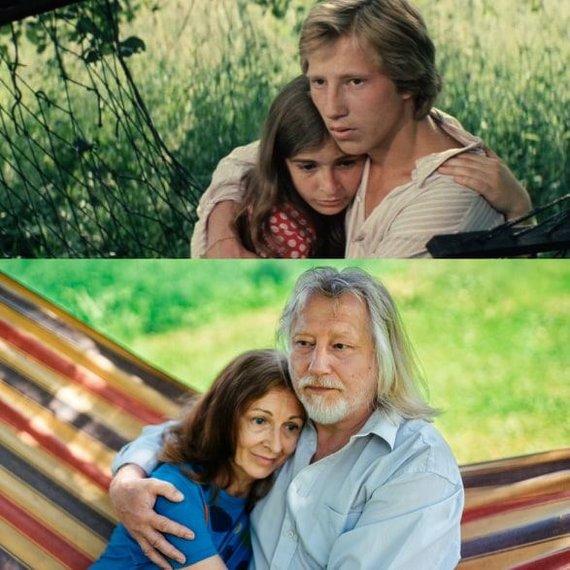 """Kino teatro """"Pasaka"""" nuotr./Elvyra ir Algirdas Latėnai atkūrė legendinį meilės prisipažinimą iš """"Riešutų duonos"""""""