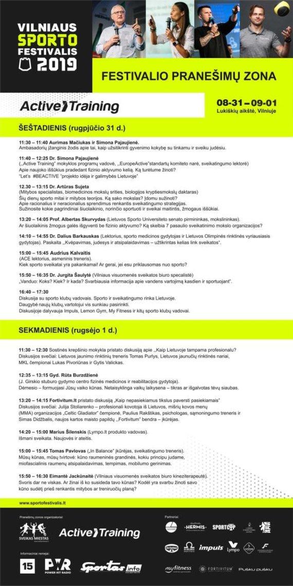 """Organizatorių nuotr./""""Active Training"""" programa"""