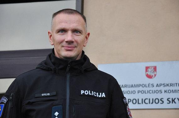 Vytauto Karsoko nuotr./Marijampolės AVPK Kelių policijos skyriaus viršininkas Rolandas Gylys
