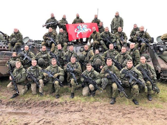 DK Birutės ulonų bataliono nuotr./Ulonų bataliono būrys, dalyvavęs puolimo operacijoje