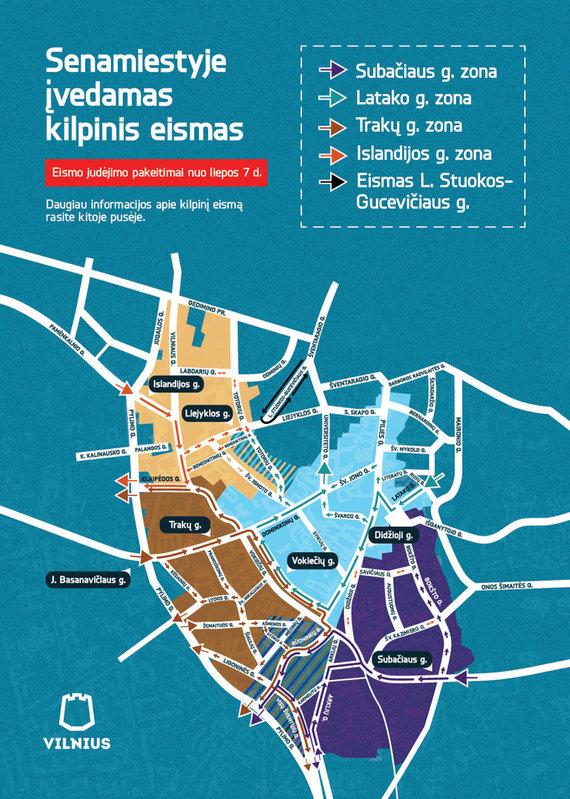 Vilniaus miesto savivaldybės nuotr./Kilpinis eismas Vilniaus senamiestyje