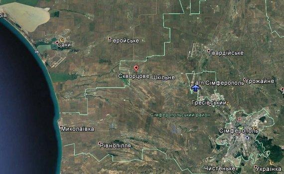 """Palydovinis vaizdas iš """"Google Earth"""" žemėlapio / informnapalm.org nuotr."""