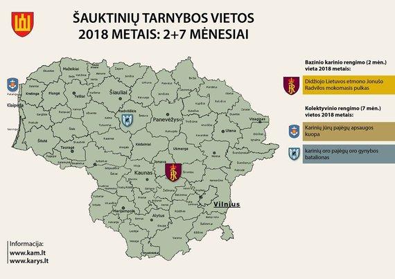 Krašto apsaugos ministerijos nuotr./2018 m. tarnybos vietos