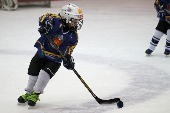 Projekto partnerio nuotr./Nacionalinė vaikų ledo ritulio lyga