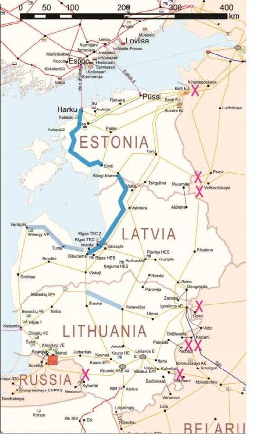 Lrt.lt nuotr./JRC svarstytas vadinamasis scenarijus 3a, kaip Baltijos šalys galėtų prisijungti prie kontinentinės Europos perdavimo tinklų.