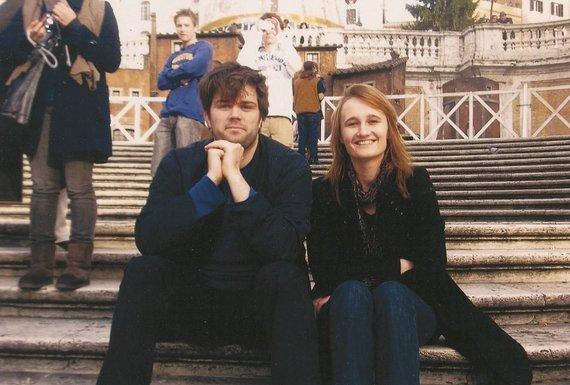 Asmeninio archyvo nuotr./V.Čmilytė-Nielsen su vyru P.H.Nielsenu