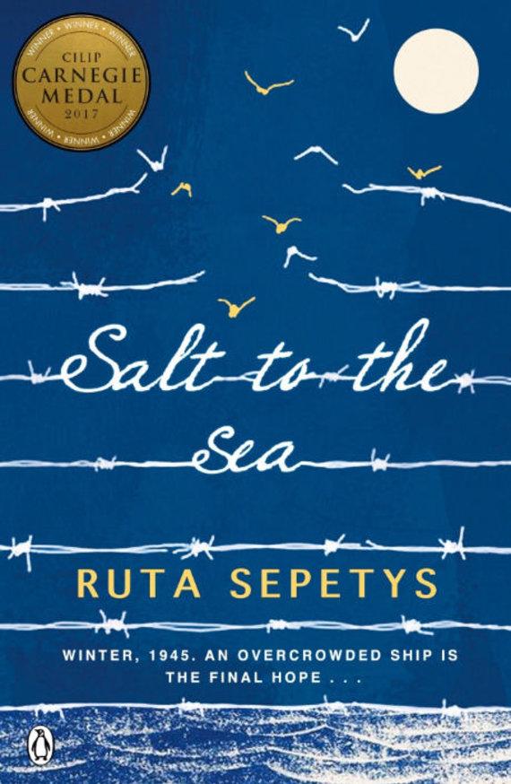 "Knygos viršelis/""Salt to the sea"" (""Druska jūrai"")"