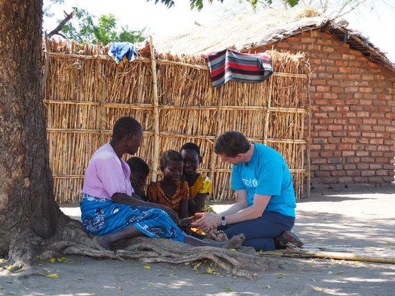 Asmeninio albumo nuotr./Ričardas Doveika UNICEF misijoje Malavyje