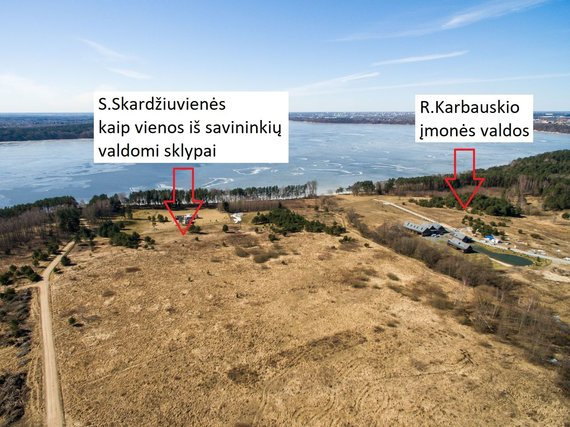 15min nuotr./R.Karbauskio įmonės ir S.Skardžiuvienės valdomi sklypai yra kaiminystėje