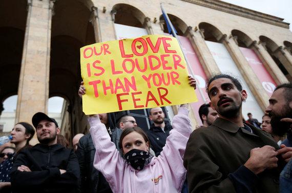 """Reuters""/""Scanpix"" nuotr./""Reivo revoliucija"" Sakartvele"