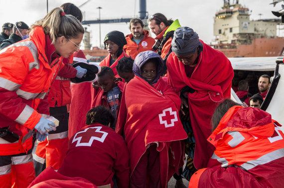"AFP/""Scanpix"" nuotr./Migrantai Ispanijoje"
