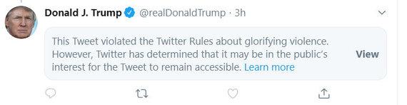 Ekrano kopija/Donaldo Trumpo įrašas tviteryje