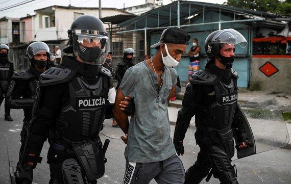 "AFP/""Scanpix"" nuotr./Protestas Havanoje"