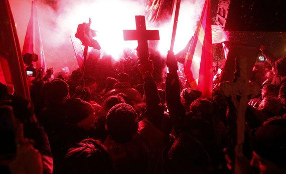 "AFP/""Scanpix"" nuotr./Protestas Makedonijos sostinėje Skopjė"