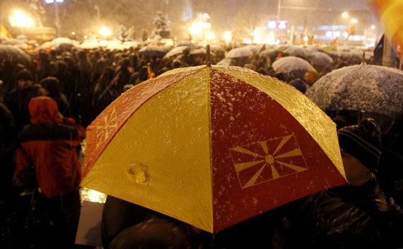 """Scanpix""/AP nuotr./Protestas Makedonijos sostinėje Skopjė"