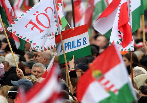 "AFP/""Scanpix"" nuotr./Protestas Vengrijoje"