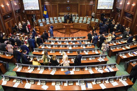 "AFP/""Scanpix"" nuotr./Kosovo parlamentas"