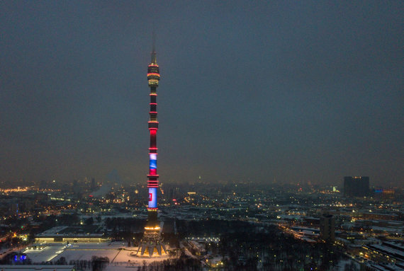 """""""Sputnik"""" nuotr./Ostankino televizijos bokštas"""