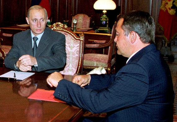 """Reuters""/""Scanpix"" nuotr./Vladimiras Putinas ir Michailas Lesinas"