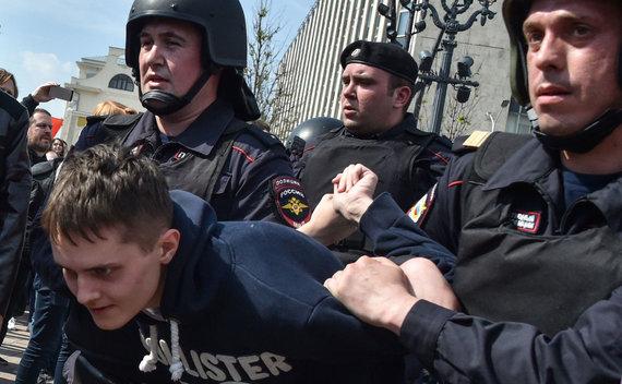 """AFP/""""Scanpix"""" nuotr./Protestas Rusijoje"""