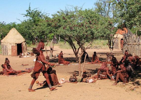 """Kelionių organizatoriaus """"GRŪDA"""" nuotr./Himbų gyvenvietė"""