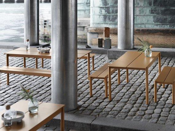 """Koelnmesse""/""Linear Steel Collection"" (dizainas – Thomo Bentzeno, gamintojas – ""Muuto"")"