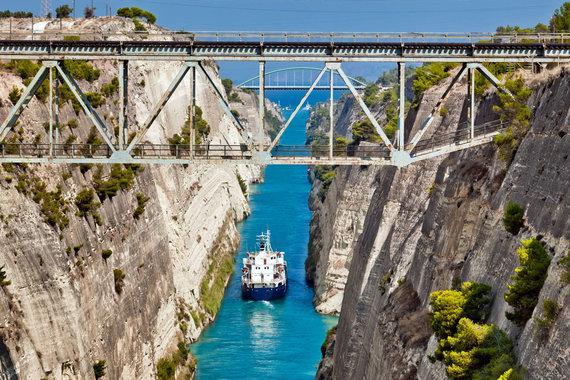 """Kelionių organizatoriaus """"GRŪDA"""" nuotr./Korinto kanalas, Graikija"""