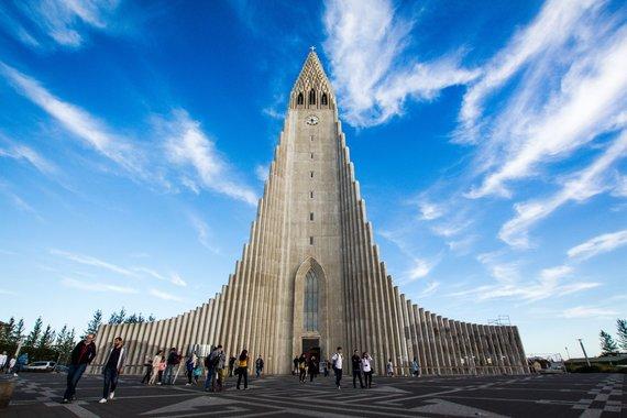 """Kelionių organizatoriaus """"GRŪDA"""" nuotr./Halgrimo bažnyčia, Reikjavikas"""
