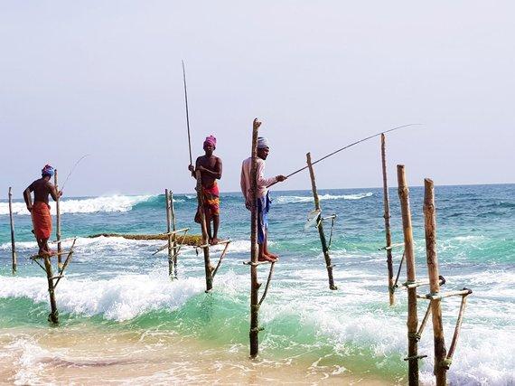 """Kelionių organizatoriaus """"GRŪDA"""" nuotr./Šri Lankos žvejai"""
