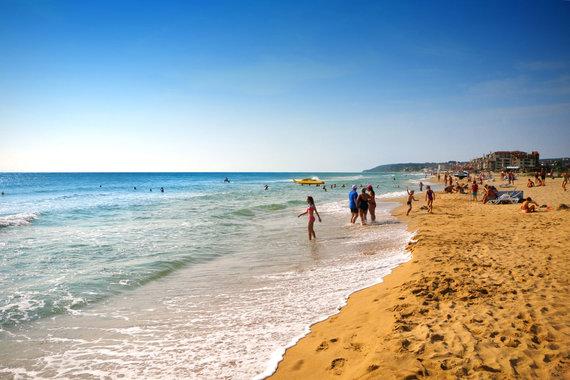 """Kelionių organizatoriaus """"GRŪDA"""" nuotr./Auksinio smėlio paplūdimys prie Juodosios jūros, Bulgarija"""