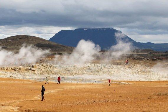 """Kelionių organizatoriaus """"GRŪDA"""" nuotr./Fumarolės, Islandija"""