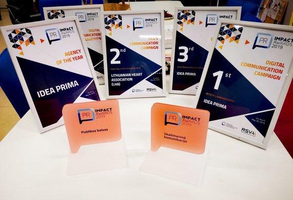 """Organizatorių nuotr./""""PR Impact awards"""" apdovanojimai"""