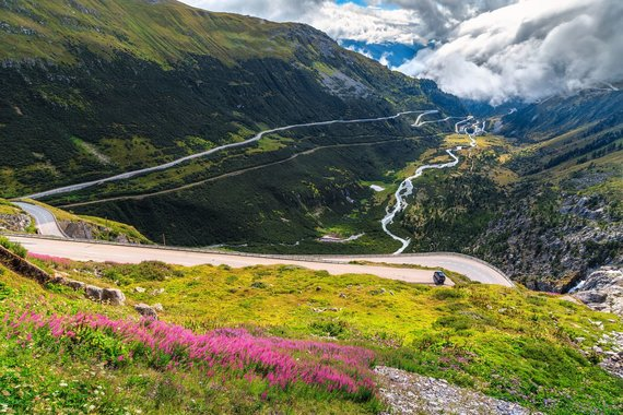 """Kelionių organizatoriaus """"GRŪDA"""" nuotr./Furkos kalnų perėja, Šveicarija"""