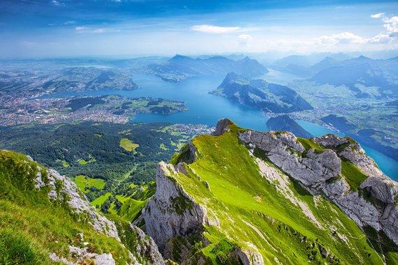 """Kelionių organizatoriaus """"GRŪDA"""" nuotr./Keturių Kantonų ežeras, Šveicarija"""