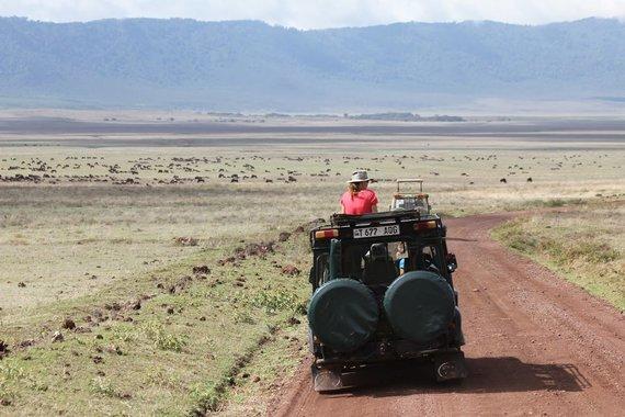 """Kelionių organizatoriaus """"GRŪDA"""" nuotr./""""GRŪDOS"""" keliautojai Ngorongoro krateryje"""
