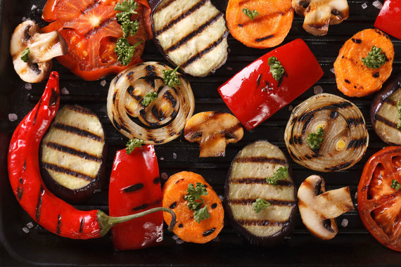 123RF.com nuotr./Grilyje keptos daržovės