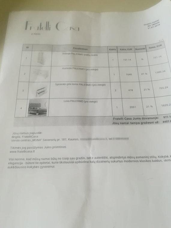 """N.Kisielienės nuotr./Nijolės Kisielienės pirkti baldai iš salono """"Fratelli casa"""""""